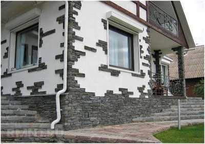 Отделка фасада камнем и облицовка фасадов