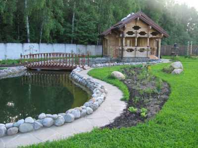 Ландшафтный дизайн - водоем на участке