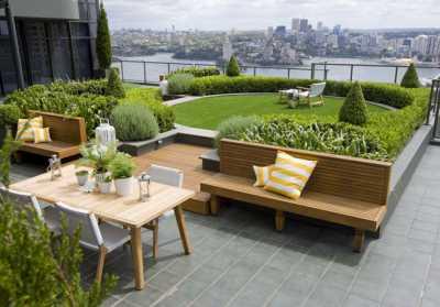 Зеленый рай на крыше и  цена газона в рулонах