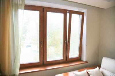 Деревянные окна, а также пластиковые окна